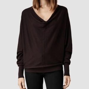 ALLSAINTS ELGAR COWL NECK SWEATER DOLMAN SLEEVES